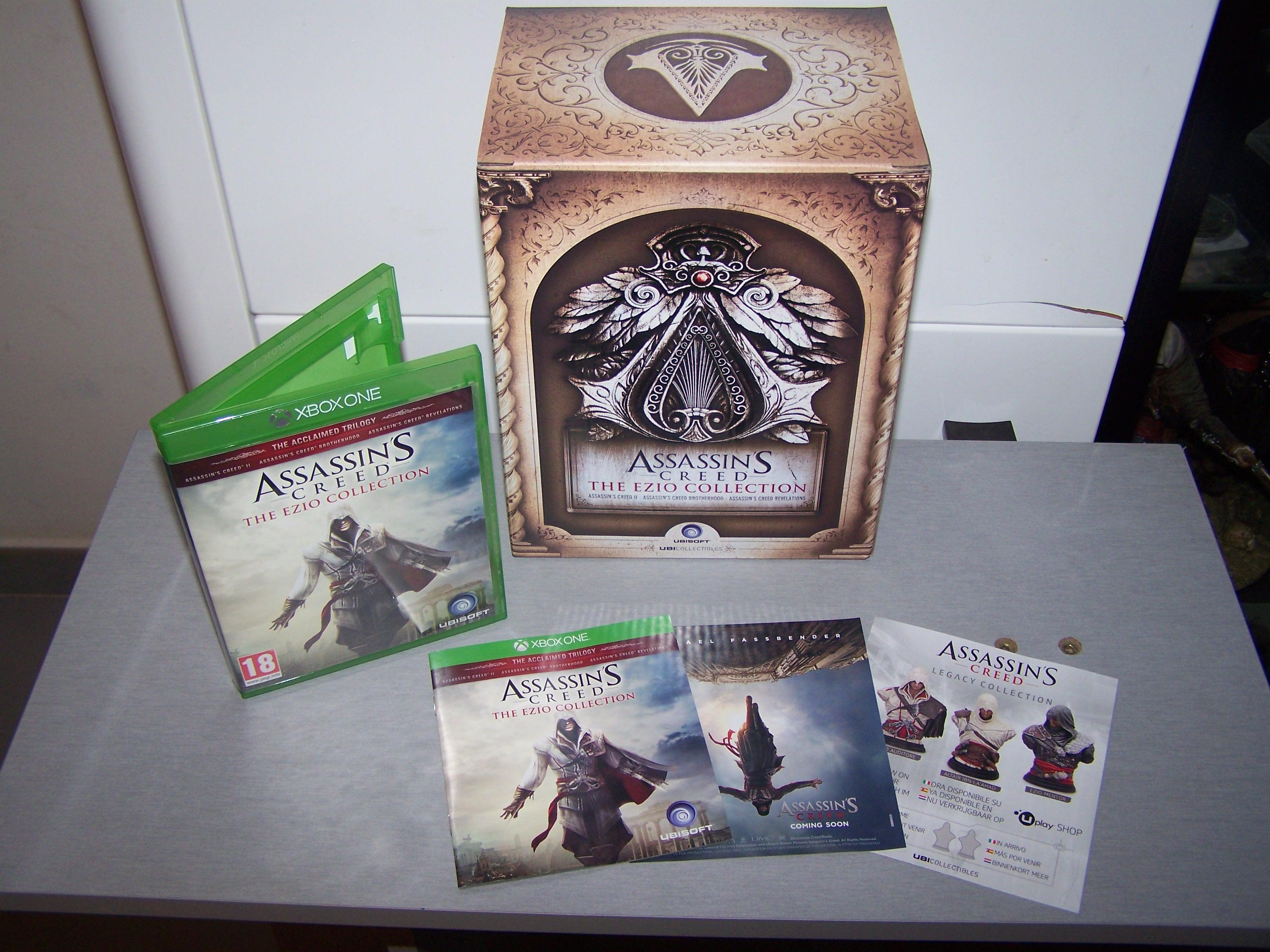 Assassin's Creed Ezio Collection Boitier du jeu et son contenu