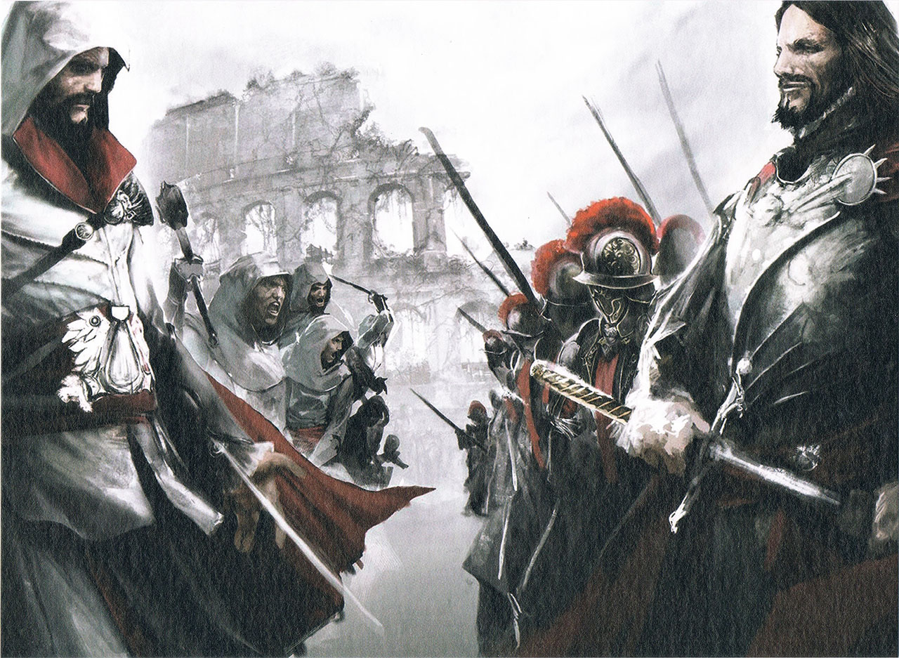 Assassin's Creed Ezio Collection Lithographie AC Brotherhood